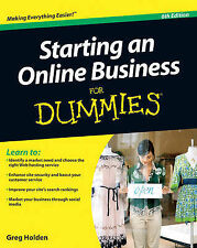 Starting an Online Business For Dummies by Greg Holden (Paperback, 2010)