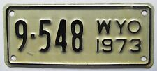 Wyoming 1973 BIG HORN COUNTY MOTORCYCLE License Plate SUPERB QUALITY # 9-548