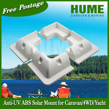 WHITE Corner Solar Panel Mount Bracket Anti UV  Caravan Boat RV- 4 for 1set