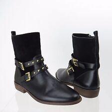 COACH Black Leather/Suede LILLIANA BOOT SIZE 5.5 B