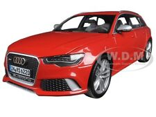 2013 AUDI RS6 WAGON AVANT RED 1:18 DIECAST MODEL CAR BY MINICHAMPS 110012011