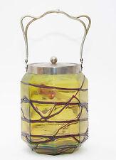 Jugendstil Glas Dose Bonboniere Eisbehälter Pallme König Art Nouveau Deckeldose