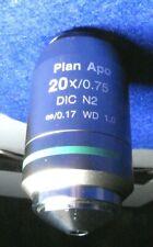 Nikon Plan Apo 20x Microscope Objective Dic N2 075 Na 017 Wd 10
