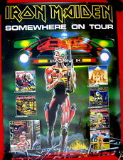 Iron Maiden 1986 GIANT poster SOMEWHERE ON TOUR