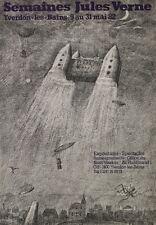 """""""SEMAINES JULES VERNE / YVERDON-les-BAINS 1982"""" Affiche originale entoilée"""