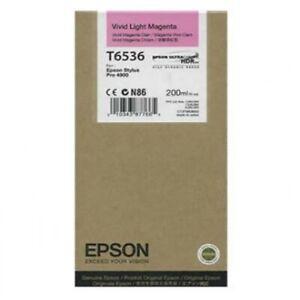 Genuine T6536 Vivd Light Magenta Ink Cartridge for Epson Printers - EXP BOX
