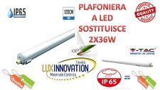 PLAFONIERA STAGNA LED IP65 LED COME 2X36W PER ESTERNO PLAFONIERA LED