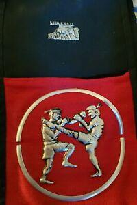 3 Level Martial Arts Belt Display Wall Rack Holder Karate Thailand Belts RARE