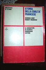 Storia della civiltà francese di Duby e Mandrou 1° ed. Il Saggiatore 1968
