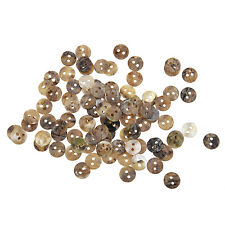 100 Mother of Pearl MOP Round Shell Sewing Buttons 8mm HOT ED