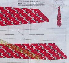 Mens Dalmation Puppy Love cotton fabric panel TIE dog Valentine