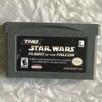 Star Wars Flight of the Falcon Nintendo Gameboy Advance Cleaned & TESTED GBA