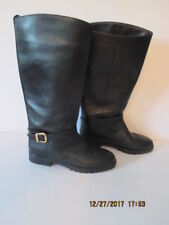LL Bean Canada North Black Leather Riding Boots size 8