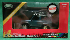 Britains 1/32ND LAND ROVER DEFENDER MODEL METALLIC BLUE WITH WINCH, ROOF RACK