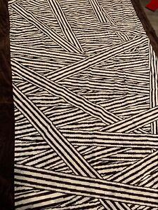 Henri Bendel Disturbed Striped Centennial Large Beach Towel Rectangular NWT