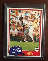 1981 TOPPS TONY PEREZ BOSTON RED SOX CARD # 575 HOF