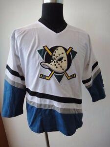VINTAGE 90's STARTER ANAHEIM MIGHTY DUCKS ICE HOCKEY NHL JERSEY / SHIRT YOUTH 12