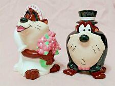 Rare Mr and Mrs Taz Salt & Pepper Shakers