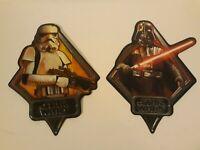 Star Wars Metal Tin Sign lot of 2 by Open Roads Brands Storm Trooper Darth Vader