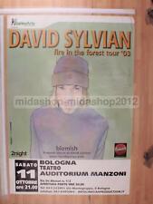DAVID SYLVIAN 11-10-2003 BOLOGNA 100X70 POSTER CONCERTO [MM 0474]