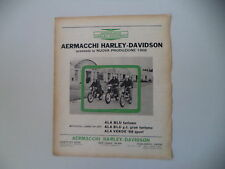 advertising Pubblicità 1967 ARMACCHI HARLEY DAVIDSON ALA BLU/ALA VERDE