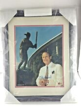 "STAN ""The Man"" MUSIAL SIGNED SPORTS 11X14 FRAMED, Next To  Statue, STL Cardinals"