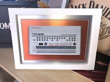 "A3 Framed Roland tr-909 drum machine print on Aluminium 18"" x 13"" IncFrame - NEW"