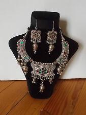 Parure, Collier Tribal et Boucles d'oreille ,  Artisanat Inde,  Kutch Gujarat 39