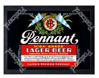 Historic Pennant Lager Beer Illinois Brewing Co Beer Ad Postcard