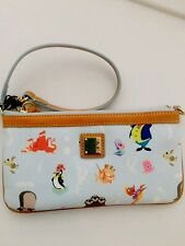 New Disney Dooney & Bourke Top Zip Pouch Out To The Sea Wristlet