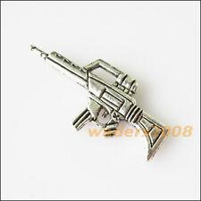 8 New Machine Gun Tibetan Silver Tone Charms Pendants 14.5x32.5mm