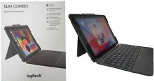 "Logitech iPad Slim Combo Case Bluetooth Wireless Keyboard iPad 9.7"" 5 & 6 Black"
