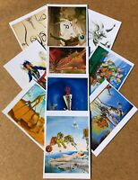 New set of 10 Salvador Dali art images copied from reprints as quality postcards