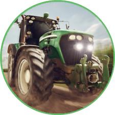 Tortenaufleger essbar aus Fondant rund 20cm durchmesser Geburtstag Traktor