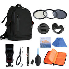 K&F Concept Camera Backpack & 77mm UV CPL ND4 Filter Kit & i-TTL Flash for DSLR