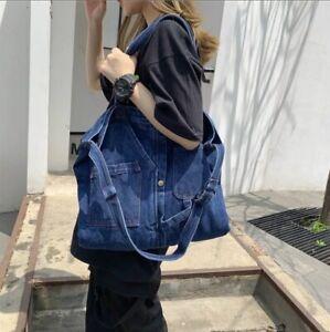 Denim Shoulder Hand Bag For Woman Girls Crossbody Casual Jeans tote big capacity