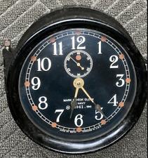 Seth Thomas Navy Ship's Mark I Deck Clock - N23941 - Wwii 1941 - Not Running