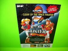 Neo Geo SNK TOP HUNTER Original 1994 Video Arcade Game Sales Flyer Space Theme