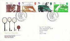 12 de enero de 1977 deportes de raqueta de oficina de correos primer día cubierta mesa Shs