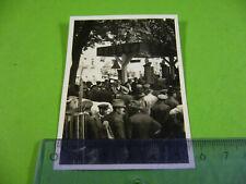 Kleines altes Foto Menschenmenge an SHELL Tankstelle, Deutsches Reich um 1930
