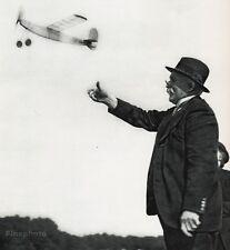 1955 Vintage Print OLD MAN Model Airplane France Photo Art ROBERT DOISNEAU 11x14