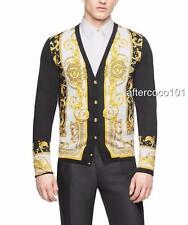 Versace Mens Barocco Iconico silk cardigan IT46/Can fit IT48 NEW AUTH shirt