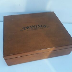 Large Twinings 12 Compartment Wooden Tea Chest Box  (Contents not included )
