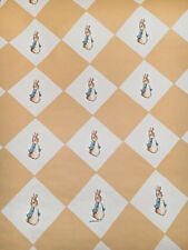 Vintage Wallpaper Nursery Beatrix Potter Peter Rabbit Yellow and Gold by Motif