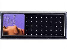 "1 PIECE 18g 1/4"" Surgical Steel Nose Bone 2MM Steel Top Ball #E"