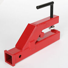 "Clamp On Trailer Hitch 2"" Ball Mount Receiver Deere Bobcat Tractor Bucket"