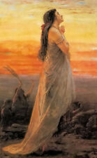 Dream-art hand painted Oil painting the lament of jephthahs daughter at sunset