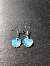 Opalite Heart Dangle Drop Earrings   130