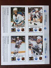 1988-89 Edmonton Oilers 10th anniversary Complete panel set Gretzky Messier Rare