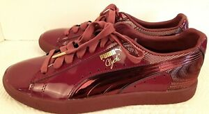 New Puma Clyde Men's Red Patent Leather US Sz 8 Art No. 363512-02 RARE Free Ship